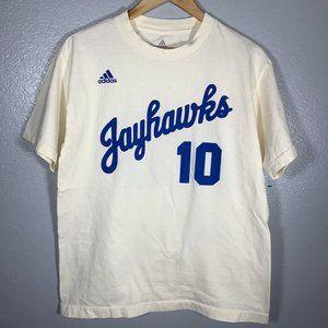 Vintage Adidas Kansas Jayhawks #10 Basketball Tee
